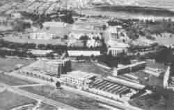 Aerial photography of Bogota campus 1960